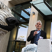 Greenpeace executive director John Sauven. Greenpeace and the giant polar bear Aurora outside Shell London HQ.  'Save the Arctic' is a long running campaign by Greenpeace targeting oil companies like Shell. Greenpeace wants oil exploration in the Arctic to stop and the giant polar bear Aurora has spend the past 4 weeks outside Shell's London HQ demanding Shell to stop drilling for oil. On Monday Sept 28 Shell announced they would stop drilling, a huge victory for Greenpeace and the environment movement.