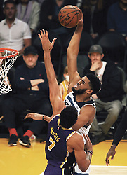 November 7, 2018 - Los Angeles, California, U.S - Karl-Anthony Towns #32 of the Minneapolis Timberwolves puts up a shot during their NBA game with the Los Angeles Lakers on Wednesday November 7, 2018 at the Staples Center in Los Angeles, California. Lakers defeat Timberwolves, 114-110. (Credit Image: © Prensa Internacional via ZUMA Wire)
