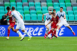 Nino Kouter of Slovenia with Haris Vuckic of Slovenia  during the UEFA Nations League C Group 3 match between Slovenia and Moldova at Stadion Stozice, on September 6th, 2020. Photo by Grega Valancic / Sportida