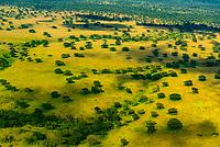 Aerial views, Rukungiri District, Uganda.