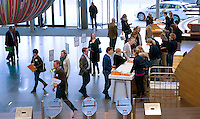 UTRECHT - Inschrijven  .Hockeycongres bij de Rabobank in Utrecht. FOTO KOEN SUYK
