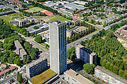 Nederland, Noord-Brabant, Tilburg, 23-08-2016; Hart van Brabantlaan hoek Ringbaan West, Westpont tower, woontoren<br /> <br /> luchtfoto (toeslag op standard tarieven);<br /> aerial photo (additional fee required);<br /> copyright foto/photo Siebe Swart