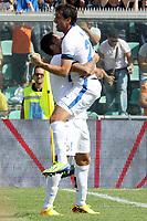 L'Esultanza dopo il gol di DIEGO MILITO Inter del 5-0<br /> Goal Celebration DIEGO MILITO Inter<br /> Reggio Emilia 22/09/2013 Mapei Stadium<br /> Football Calcio 2013/2014 Serie A<br /> Sassuolo Vs Inter<br /> Foto Luca Pagliaricci Insidefoto