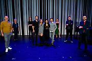 GOUD, 12-10-2020, Goudse Schouburg<br /> <br /> Premiere Off-Broadway musical Murder Ballad  in de Goudse Schouwburg in Gouda.<br /> <br /> Op de foto:  Cast met Cystine Carreon, Buddy Vedder, Vajèn van den Bosch en Jonathan Demoor  met creatives