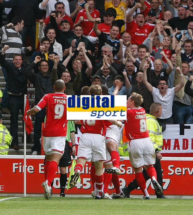 Photo: Steve Bond/Richard Lane Photography. <br />Nottingham Forest v Yeovil Town. Coca-Cola Football League One. 03/05/2008. Julian Bennett celebrates the opener