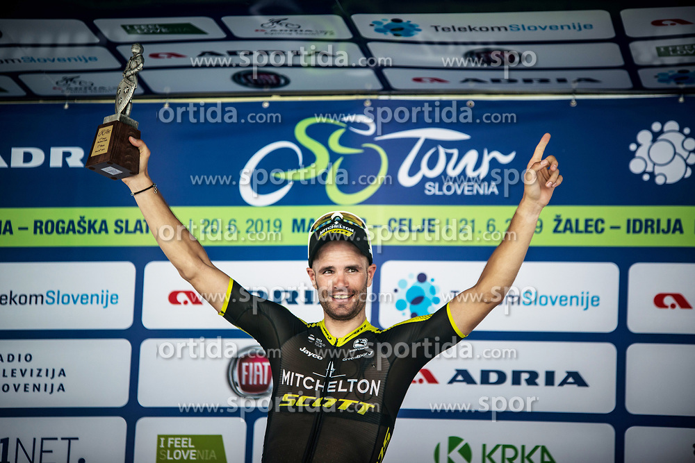 Luka Mezgec (SLO) of Mitchelton - Scott celebrates after 2nd Stage of 26th Tour of Slovenia 2019 cycling race between Maribor and Celje (146,3 km), on June 20, 2019 in  Slovenia. Photo by Peter Podobnik / Sportida