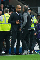 Football - 2016 /2017 Premier League - Swansea City vs Manchester City<br /> <br />  Swansea City manager Francesco Guidolin & Manchester City manager Pep Guardiola shake hands after the end of the game at the Liberty Stadium.<br /> <br /> <br /> PIC COLORSPORT/WINSTON BYNORTH