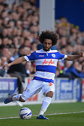 QPR's defender Benoît Assou-Ekotto  - Photo mandatory by-line: Mitchell Gunn/JMP - Tel: Mobile: 07966 386802 29/03/2014 - SPORT - FOOTBALL - Loftus Road - London - Queens Park Rangers v Blackpool - Championship