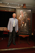 Trevor Bentham with a painting of his( ( deceased)  partner Sir Nigel Hawthorne which he has donated to the Museum. Vanessa Redgrave and Thelma Holt host a reception at the<br />