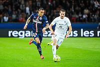Gregory VAN DER WIEL / Kevin LEJEUNE - 28.04.2015 - Paris Saint Germain / Metz - Match en retard - 32eme journee Ligue 1<br />Photo : Nolwenn Le Gouic / Icon Sport