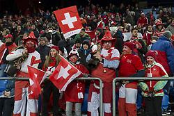 November 12, 2017 - Basel, Schweiz - Basel, 12.11.2017, Fussball WM Qualifikation Playoff, Schweiz - Nordirland, Schweizer Fans  (Credit Image: © Pascal Muller/EQ Images via ZUMA Press)