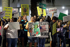 Florida, People protest against the election of Donald Trump, 11 Nov. 2016