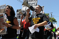 """Hundreds of marchers from the community on filled east Salinas on Sunday with cries for """"Respect, Dignity, and Justice."""" The well-organized, peaceful protest started in Closter Park, and paused for prayer at two sites where residents have been killed recently in recent officer-involved shootings."""