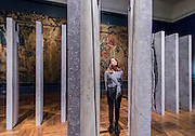 The Ogham Wall, by Grafton Architects - The London Design Festival comes to the V&A with a range of installations including: Zotem, supported by Swarovski, is an 18m tall double-sided monolith created by young Norwegian designer Kim Thomé; The Cloakroom by Faye Toogood, where visitors are invited to take one of 150 coats to wear as they explore the Museum using a sewn-in fabric map to guide them to discover 10 different coat sculptures; Curiosity Cloud by mischer'traxler, for Perrier-Jouet in the Music Room, in which 250 mouth-blown glass globes hang from the ceiling containing a single, hand-made insect; and The Ogham Wall, by Grafton Architects for Irish Design 2015, in which 23 'fins' (resembling Irish and British standing stones) carry an ancient alphabet which originated deep in Irish Celtic history. The annual festival runs from 19 – 27 September, and the Victoria and Albert Museum is the Festival's hub - www.londondesignfestival.com