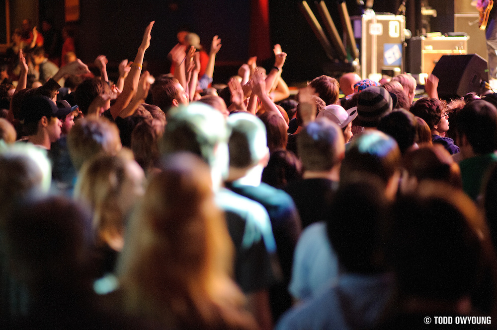 Fans during Mayer Hawthorne's performance at the Pageant on October 24, 2011.