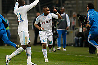 FOOTBALL - FRENCH CHAMPIONSHIP 2010/2011 - L1 - OLYMPIQUE DE MARSEILLE v PARIS SG - 20/03/2011 - PHOTO PHILIPPE LAURENSON / DPPI - JOY AFTER ANDRE AYEW (OM) GOAL