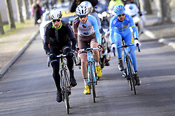 March 7, 2017 - Chalon Sur Saone, France - CHALON-SUR-SAONE, FRANCE - MARCH 7 : KING Ben (USA) Rider of Team Dimension Data, LATOUR Pierre-ROGER (FRA) Rider of Team AG2R La Mondiale and COMBAUD Romain (FRA) Rider of Delco Marseille Provence KTM are the escape pack during stage 03 of the 75th edition of the Paris - Nice cycling race, a stage of 190 km with start in Chablis and finish in Chalon-Sur-Saone on March 07, 2017 in Chalon-Sur-Saone, France, 7/03/2017 (Credit Image: © Panoramic via ZUMA Press)
