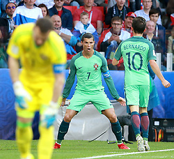 June 21, 2017 - Moscow, Russia - June 21, 2017. Russia, Moscow, Otkritie Arena Stadium. FIFA Confederations Cup 2017. Portugal's player Cristiano Ronaldo celebrate scoring a goal during match between Russia and Portugal (Credit Image: © Russian Look via ZUMA Wire)