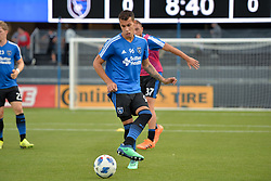 August 29, 2018 - San Jose, California, United States - San Jose, CA - Wednesday August 29, 2018: Luis Felipe prior to a Major League Soccer (MLS) match between the San Jose Earthquakes and FC Dallas at Avaya Stadium. (Credit Image: © John Todd/ISIPhotos via ZUMA Wire)