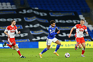 Cardiff City's Josh Murphy (11) makes a midfield break during the EFL Sky Bet Championship match between Cardiff City and Millwall at the Cardiff City Stadium, Cardiff, Wales on 30 January 2021.