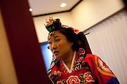 Daegu/South Korea, Republic Korea, KOR, 05.09.2010: Traditional Korean wedding in the South Korean city of Daegu.