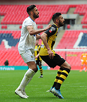 Football - 2019 / 2020 Buildbase FA Vase - Final - Consett vs Hebburn Town - Wembley Stadium<br /> <br /> Twin rivalry : Amar Purewal of Hebburn Town (right) playing against his twin brother Arjun Purewal of Consett (left) <br /> <br /> Credit : COLORSPORT/ANDREW COWIE