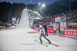 06.01.2015, Paul Ausserleitner Schanze, Bischofshofen, AUT, FIS Ski Sprung Weltcup, 63. Vierschanzentournee, Finale, im Bild Manuel Poppinger (AUT) // Manuel Poppinger of Austria reacts after his first Jump of 63rd Four Hills Tournament of FIS Ski Jumping World Cup at the Paul Ausserleitner Schanze, Bischofshofen, Austria on 2015/01/06. EXPA Pictures © 2015, PhotoCredit: EXPA/ Johann Groder