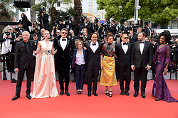 Alejandro Gonzalez Inarritu, Elle Fanning, Maimouna N'diaye, Kelly Reichardt, Robin Campillo, Pawel Pawlikowski, Alice Rohrwacher, Enki Bilal, Yorgos Lanthimos attending the opening ceremony and premiere of The Dead Don't Die, during the 72nd Cannes Film Festival.
