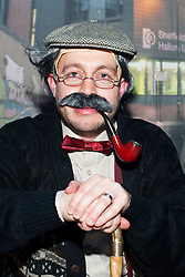 The Hubs, Hallam Union, Paternoster Row plays host to Sheffield's biggest Fancy Dress Ball. More than 900 people in fancy dress to raise money for Cancer Research on Saturday night .Old man Matthew Caudwell...6 April  2013.Image © Paul David Drabble