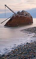 Shipwreck at point San Jacinto, Baja, Mexico