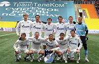 Fotball<br /> Foto: imago/Digitalsport<br /> NORWAY ONLY<br /> <br /> 09.03.2008<br /> <br /> Lagbilde Zenit St. Petersburg<br /> <br /> Mannschaftsbild St. Petersburg, hi.v.li.: Pavel Pogrebnyak, Ivica Krizanac, Konstantin Zyrianov, Roman Shirokov, Tomas Hubocan, Torwart Vyacheslav Malafeev; vorn: Andrey Arshavin,  Alexander Anyukov, Anatoliy Timoshuk, Radek Sirl und Victor Fayzulin