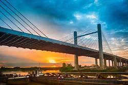 A BR-448, também chamada Rodovia do Parque é uma rodovia federal no Estado do Rio Grande do Sul, entre Sapucaia do Sul e Porto Alegre, a oeste da BR-116. FOTO: Jefferson Bernardes/ Agência Preview Ponte Estaiada, que liga Porto Alegre a  Canoas, sobre o Rio Gravataí. A BR-448, também chamada Rodovia do Parque é uma rodovia federal no Estado do Rio Grande do Sul, entre Sapucaia do Sul e Porto Alegre, a oeste da BR-116. FOTO: Jefferson Bernardes/ Agência Preview