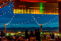 The 54Thirty (the highest rootop bar in Denver at 5430 feet above sea level), on the 20th floor of the Le Meridien Hotel, Downtown Denver, Colorado USA.