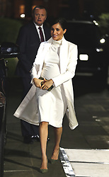 The Duchess of Sussex arrives at a gala performance of The Wider Earth at the Natural History Museum in London.