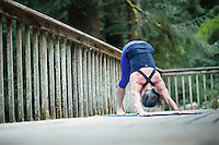 Woman doing yoga.