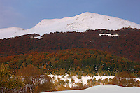View at Tarnica Peak from Wolosate Valley, Bieszczady National Park, Poland
