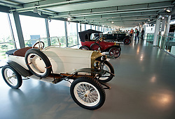 Vintage cars on display at car museum in Autostadt in Wolfsburg Germany