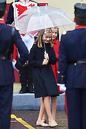 Crown Princess Leonor, Princess Sofia attended the National Day military parade on October 12, 2016 in Madrid, Spain.