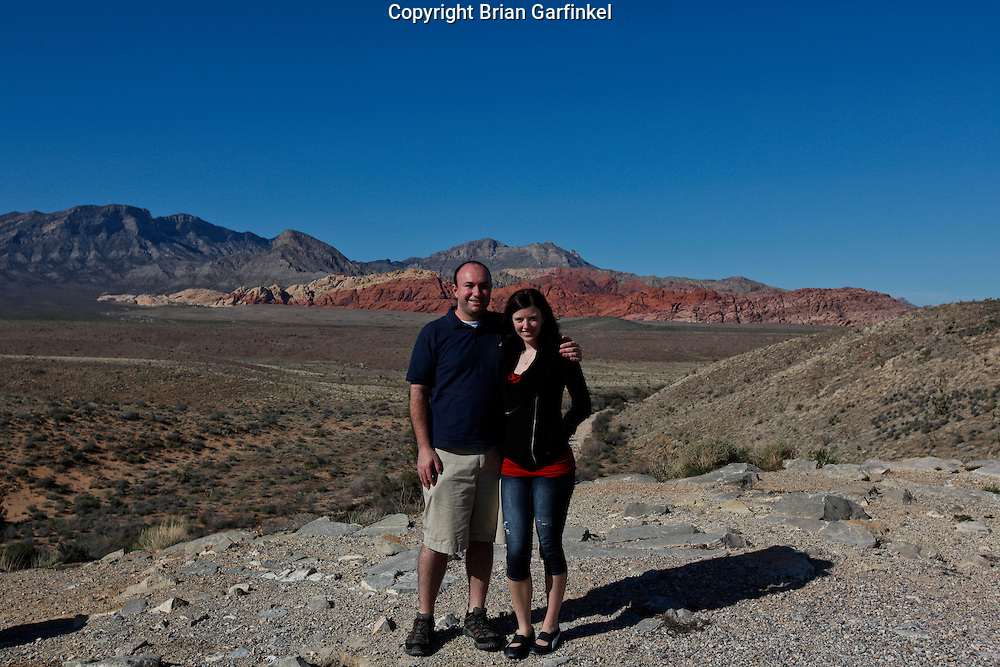 Brian and Allison at Red Rock Canyon in Nevada on March 27th 2011. (Photo By Brian Garfinkel)