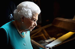 May 31, 2017 - London, London, United Kingdom - Image licensed to i-Images Picture Agency. 31/05/2017. London, United Kingdom.  Queen Elizabeth II at the Drapers' Hall in London for a lunch to commemorate the 70th anniversary of Her Majesty's admission to the Freedom of the Drapers' Company.  Picture by ROTA  / i-Images UK OUT FOR 28 DAYS (Credit Image: © Rota/i-Images via ZUMA Press)