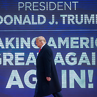 NEWTOWN, PA - OCTOBER 31: President Donald Trump arrives at a rally on October 31, 2020 in Newtown, Pennsylvania. With the election only three days away, Trump is holding four rallies across Pennsylvania today, as he vies to recapture the Keystone State's vital 20 electoral votes.  In 2016, he carried Pennsylvania by only 44,292 votes out of more than 6 million cast, less than a 1 percent differential, becoming the first Republican to claim victory here since 1988. (Photo by Mark Makela/Getty Images)