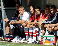 Fotball<br /> Bundesliga Tyskland<br /> Foto: Witters/Digitalsport<br /> NORWAY ONLY<br /> <br /> 13.07.2008<br /> Bayern München<br /> <br /> v.l. Trainer Jürgen Klinsmann, Deniz Yilmaz, Mehmet Ekici, Holger Badstuber, Jörg Butt Bayern<br /> Fussball Testspiel SV Lippstadt 08 - FC Bayern Muenchen