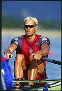 Sydney. AUSTRALIA, Men's, Olympic, Single Sculls Canadian CAN M1X, Derek PORTER. 2000 Olympic Games - Olympic Regatta; Penrith, NSW. [Mandatory Credit: Peter Spurrier: Intersport Images] Sydney International Regatta Centre (SIRC) 2000 Olympic Rowing Regatta00085138.tif