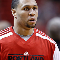 08 March 2011: Portland Trail Blazers shooting guard Brandon Roy (7) is seen prior to the Portland Trail Blazers 105-96 victory over the Miami Heat at the AmericanAirlines Arena, Miami, Florida, USA.