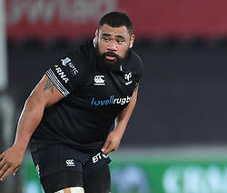 Ospreys' Ma'afu Fia<br /> <br /> Photographer Mike Jones/Replay Images<br /> <br /> Guinness PRO14 Round Round 16 - Ospreys v Cheetahs - Saturday 24th February 2018 - Liberty Stadium - Swansea<br /> <br /> World Copyright © Replay Images . All rights reserved. info@replayimages.co.uk - http://replayimages.co.uk