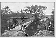 Taylor's bridge, where the Telegraph Road crosses the North Anna, from the book ' The Civil war through the camera ' hundreds of vivid photographs actually taken in Civil war times, sixteen reproductions in color of famous war paintings. The new text history by Henry W. Elson. A. complete illustrated history of the Civil war
