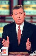 Senator John Ashcroft (R-MO) discusses the ongoing scandal involving President Clinton during NBC's Meet the Press September 20, 1998 in Washington, DC.