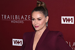 February 20, 2019 - ALYSSA MILANO attends VH1 Trailblazer Honors celebrate female empowerment held at Wilshire Ebell Theatre. (Credit Image: © Billy Bennight/ZUMA Wire)