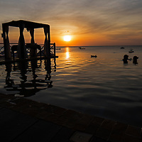 This amazing pool at the Z hotel in Zanzibar is a great place to watch the sunset.