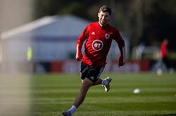 CARDIFF, WALES - Wednesday, October 7, 2020: Wales' Ben Davies during a training session at the Vale Resort ahead of the International Friendly match against England. (Pic by David Rawcliffe/Propaganda)